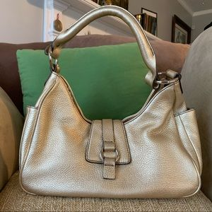 Gold Leather Talbots Shoulder Bag